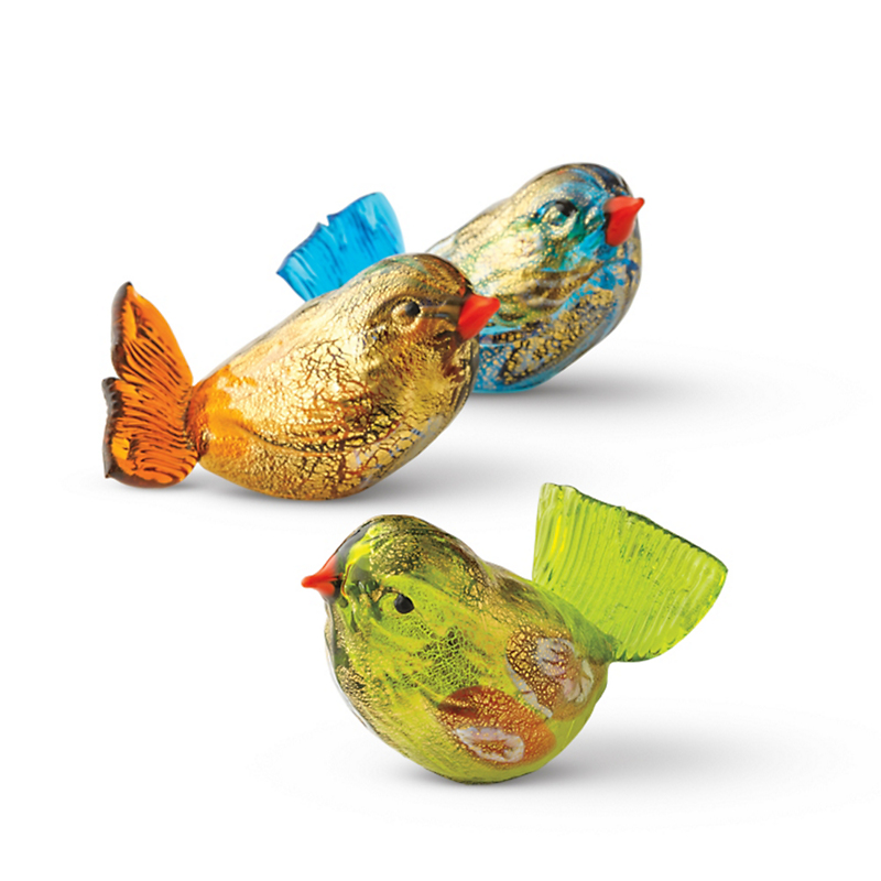 Murano Glass Sparrows