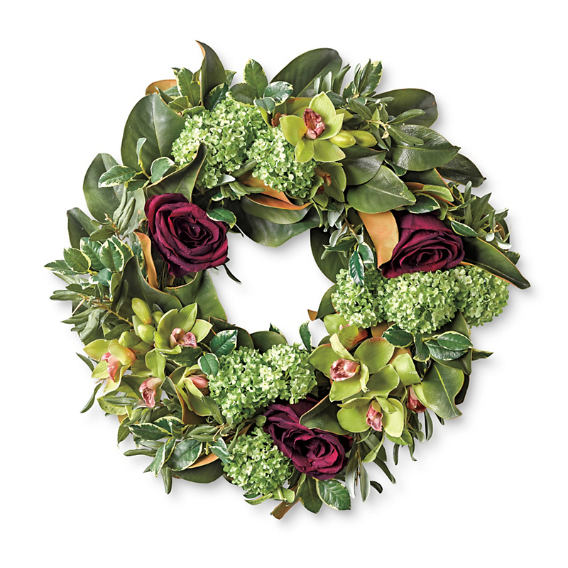 Cymbidium & Rose Wreath