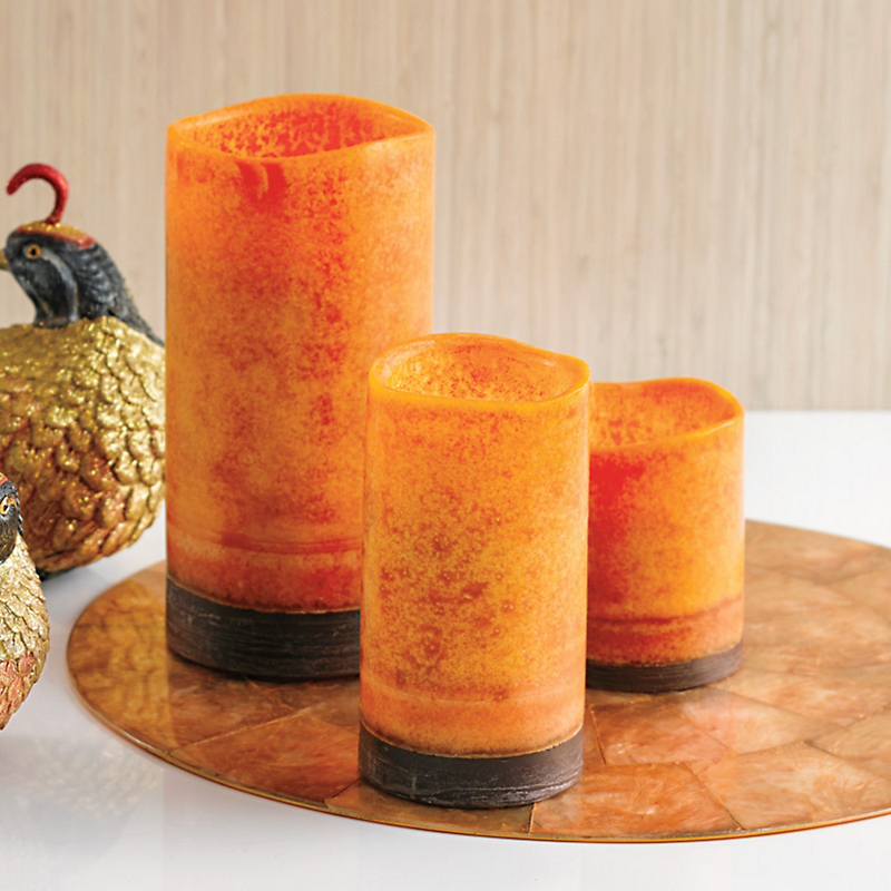 Sunset Orange Flameless Candles