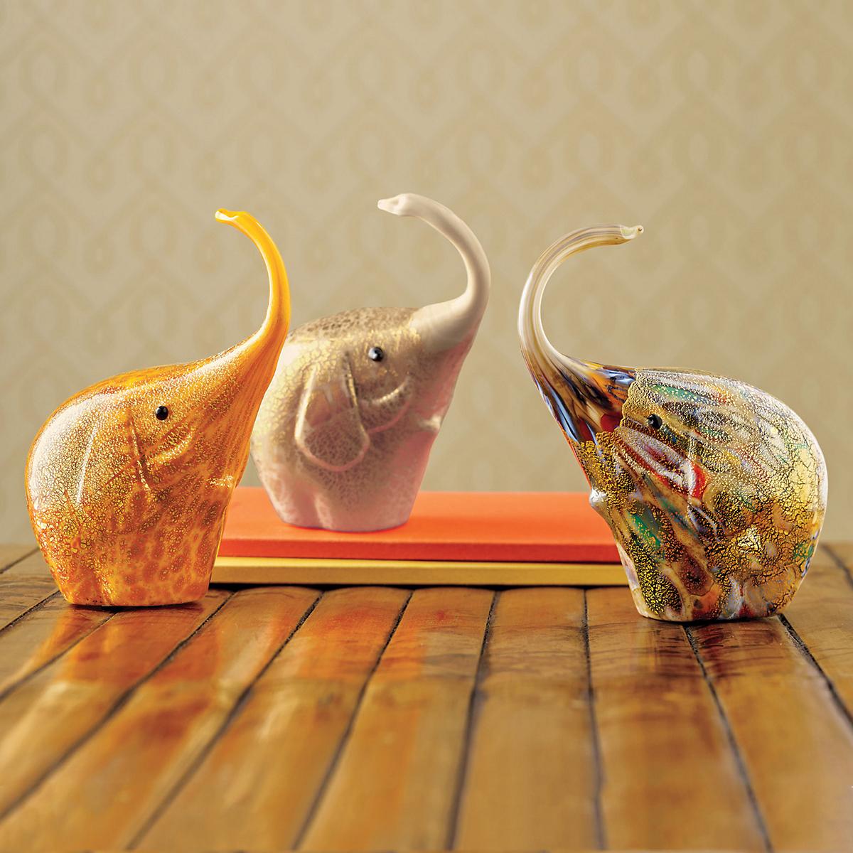 Murano safari glass elephants gump 39 s - Safari murano jewelry ...