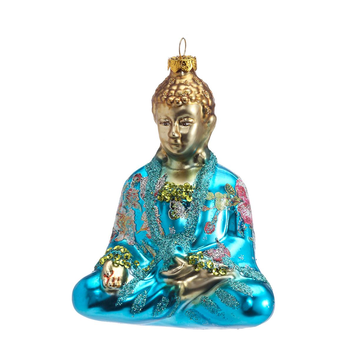 Turquoise Buddha Christmas Ornament | Gump's