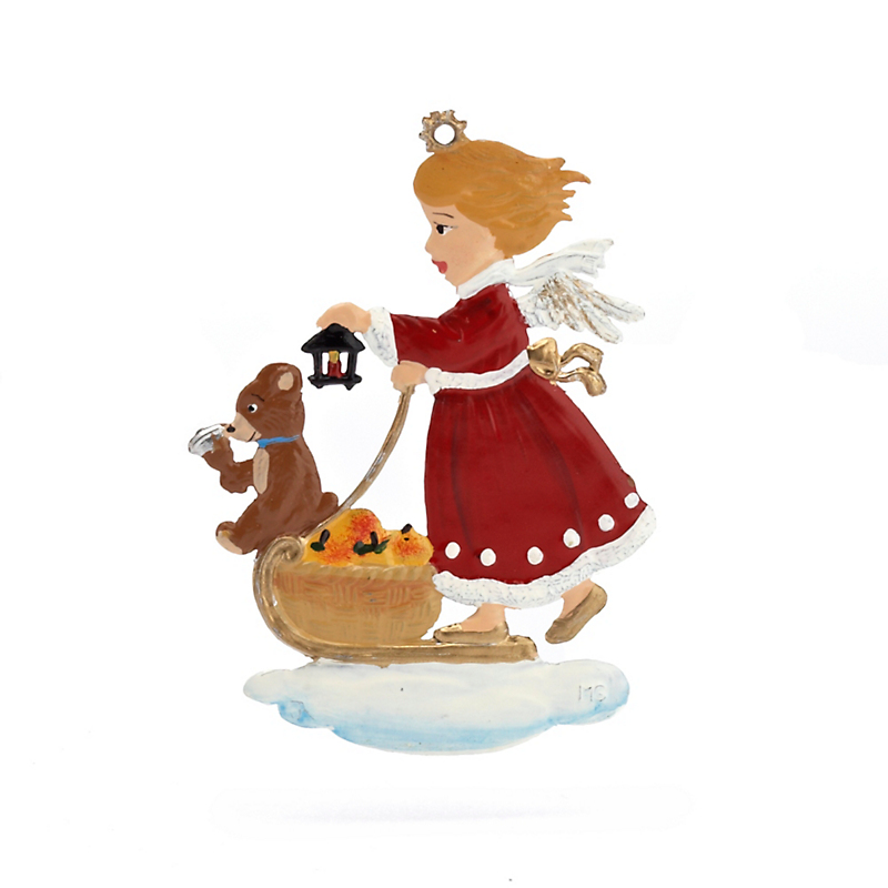 Schweizer Angel With Teddy Bear Christmas Ornament
