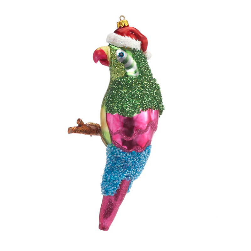 Tropical Paradise Parrot Christmas Ornament