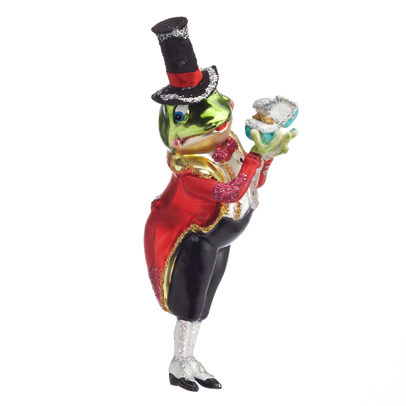 Mr Frog Gets Married Christmas Ornament
