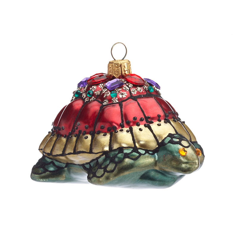Jeweled Turtle Christmas Ornament