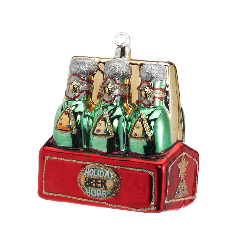 Swarovski 6-Pack Of Beer Christmas Ornament