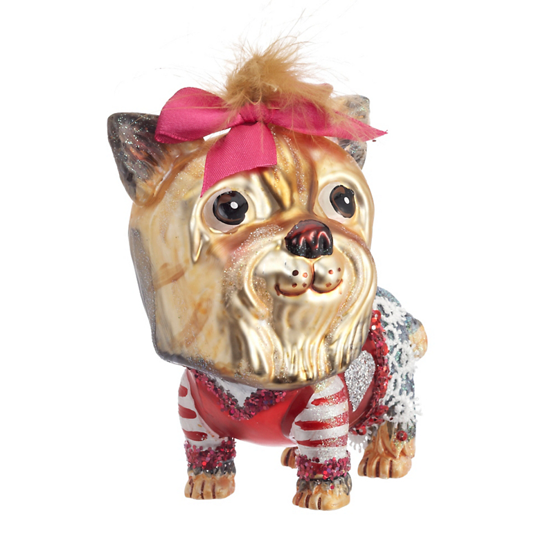 Terrific Terrier Christmas Ornament