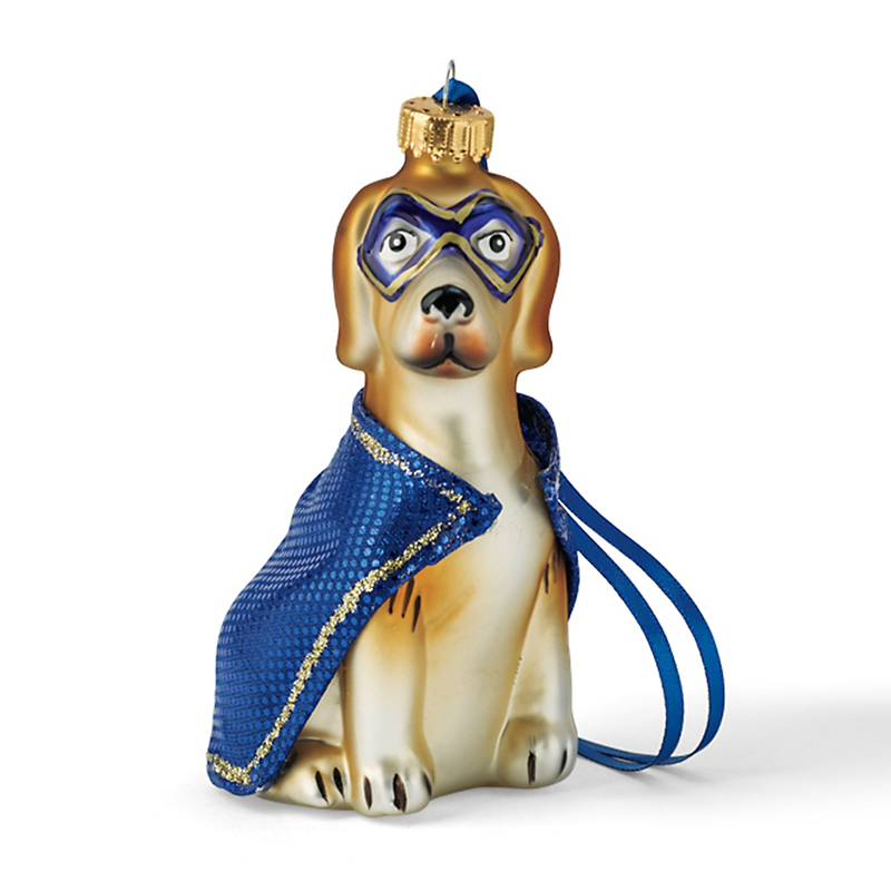 Masked Beagle Christmas Ornament