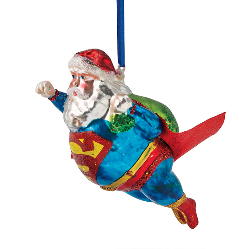 Super Santa Christmas Ornament