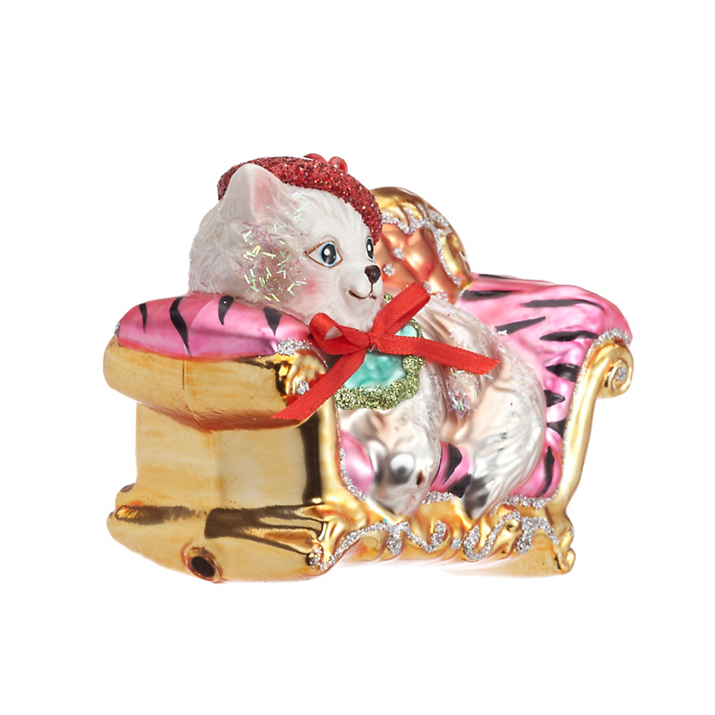 Princess Kitty Christmas Ornament
