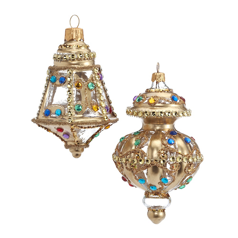 Jeweled Lantern Christmas Ornaments