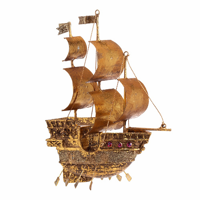 Pirate's Ship Christmas Ornament