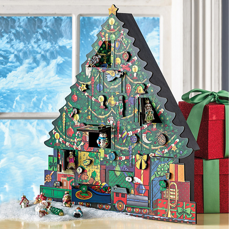 Christmas Tree Advent Calendar & Mini Ornament Set