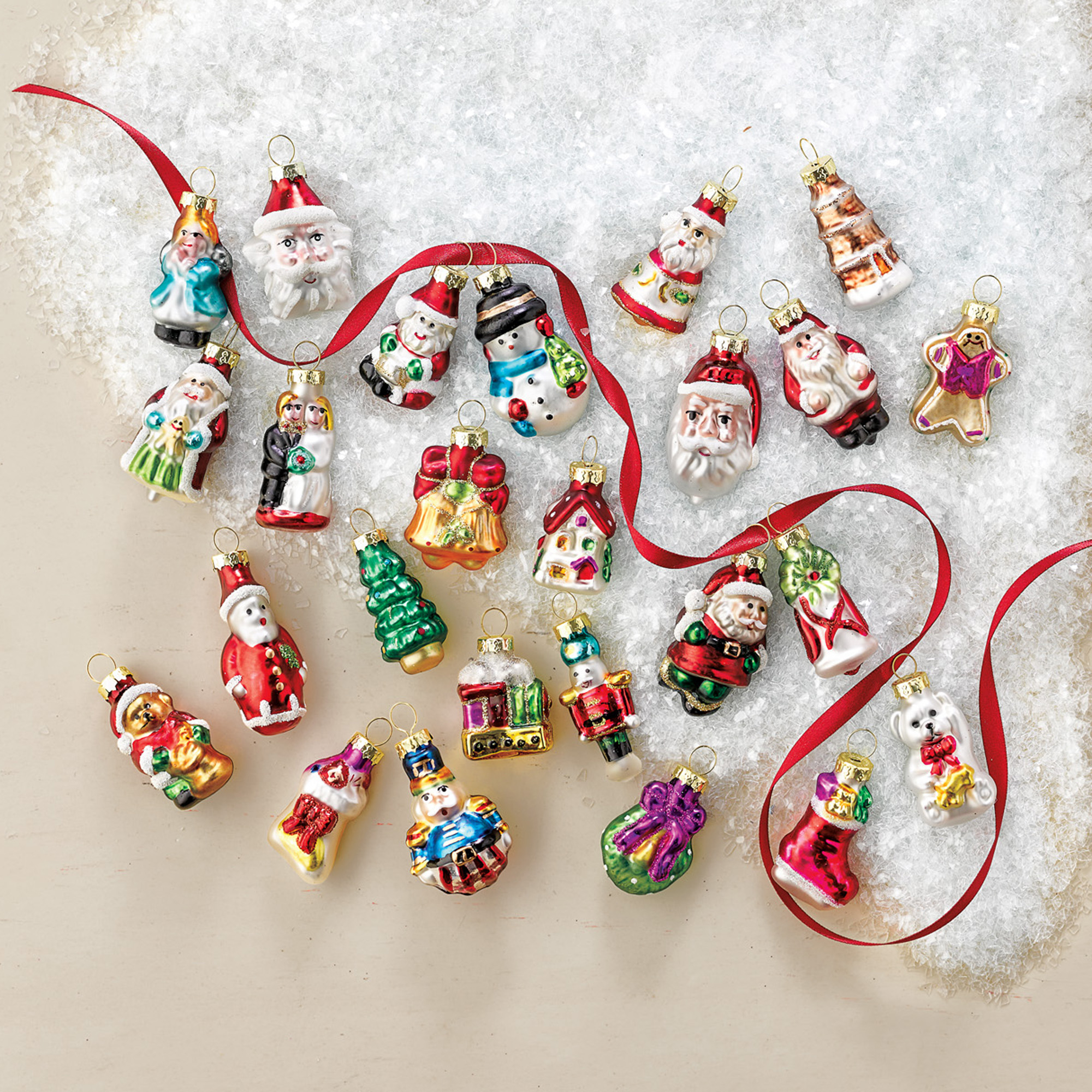Advent Calendar Mini Ornaments, Set Of 25