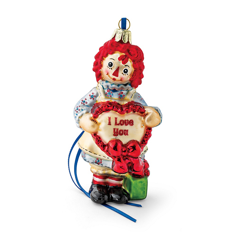 Raggedy Ann With Heart Christmas Ornament