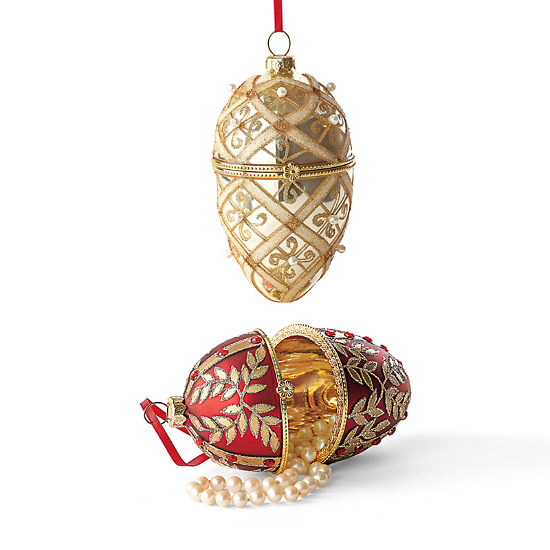 Festive Egg Keepsake Christmas Ornaments