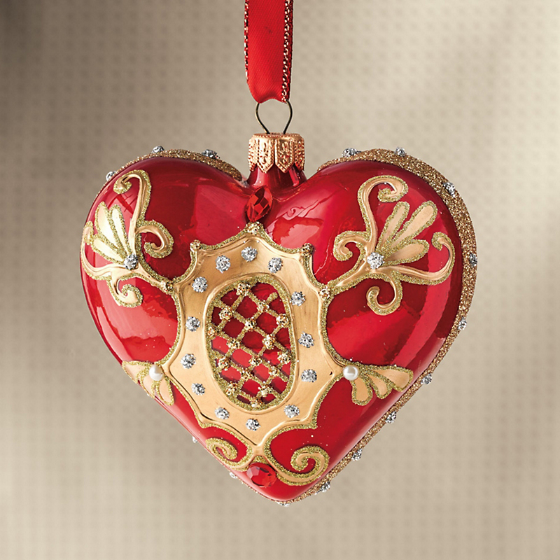 Embellished Heart Christmas Ornament