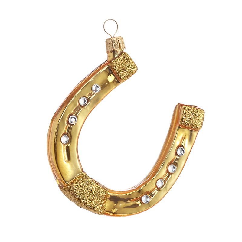 Swarovski Lucky Horseshoe Christmas Ornament
