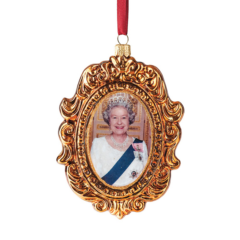 Queen Elizabeth II Christmas Ornament
