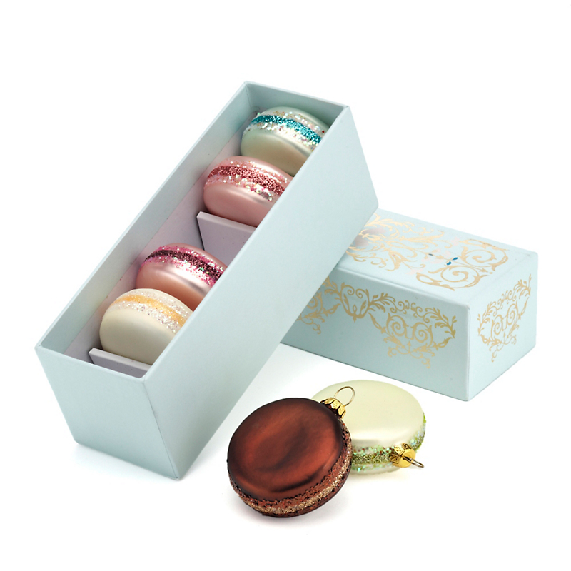 Macaron Christmas Ornaments, Set Of 6