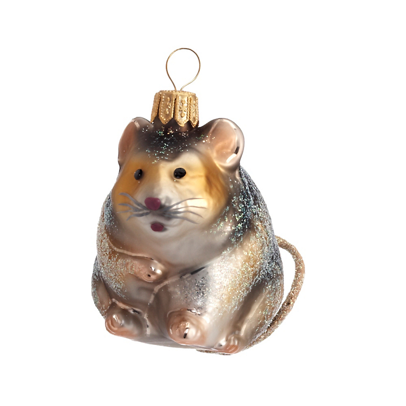 Field Mouse Christmas Ornament