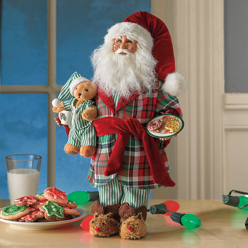 Karen Didion Late Night Snack Santa Figure