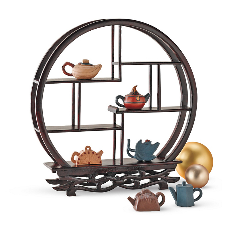 Mini Yixing Teapots With Stand, Set Of 6