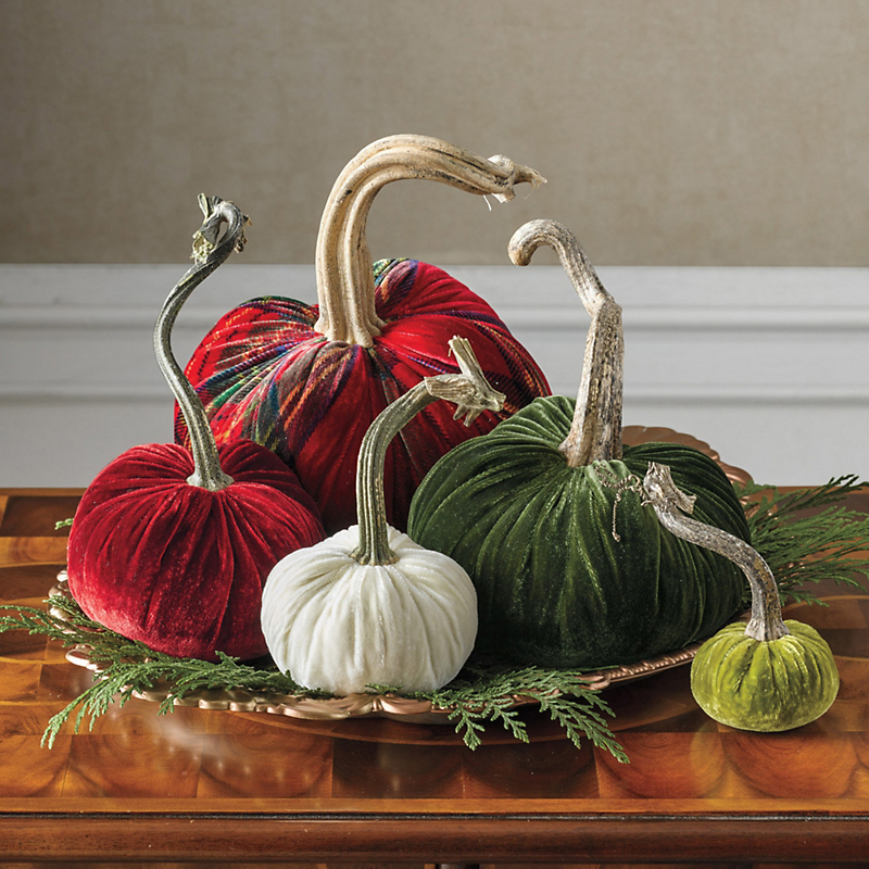 Holiday Velvet Pumpkins