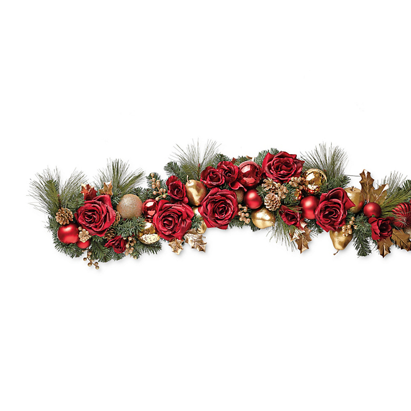 Red Rose & Gold Garland