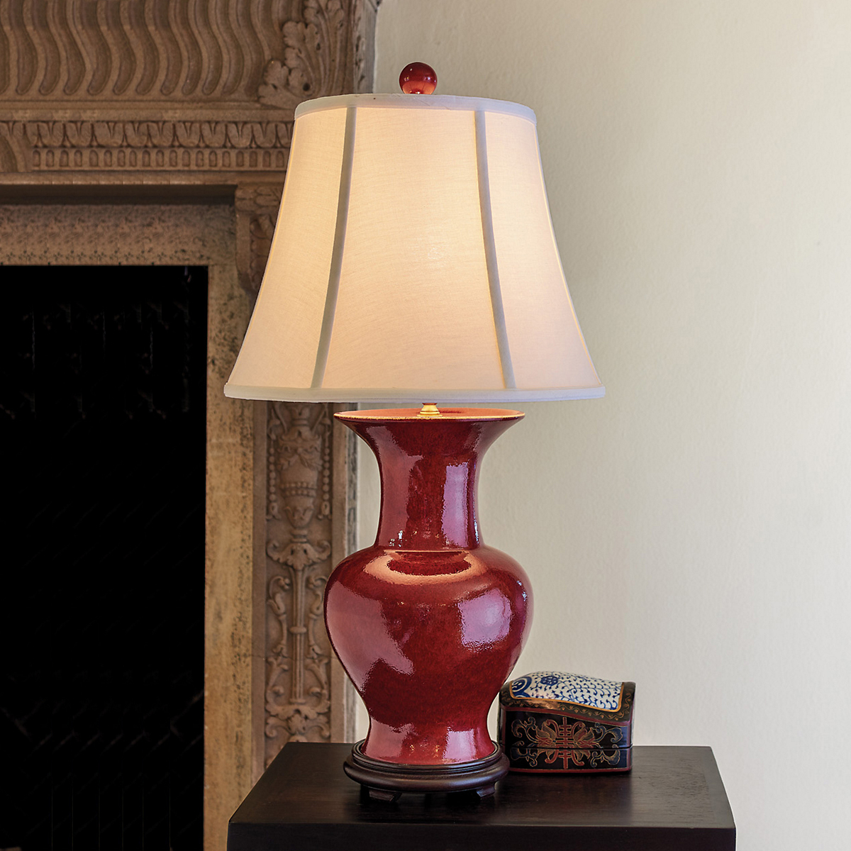Oxblood Jar Lamp