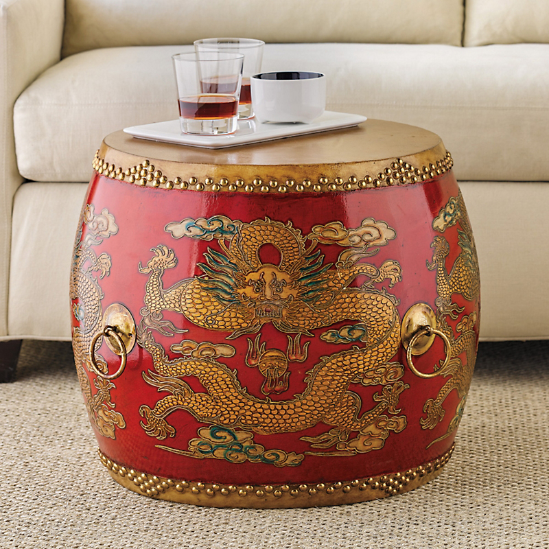 Ceremonial Drum Table, Red