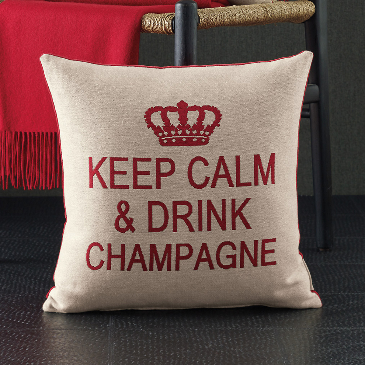 Keep Calm & Drink Champagne Tapestry Pillows