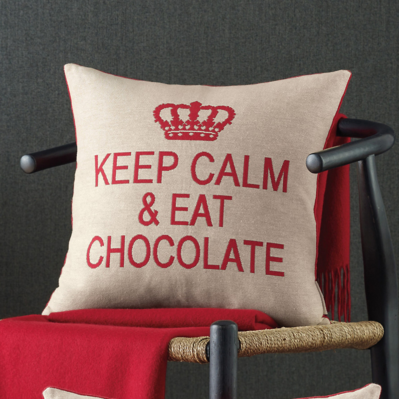 Keep Calm & Eat Chocolate Tapestry Pillows