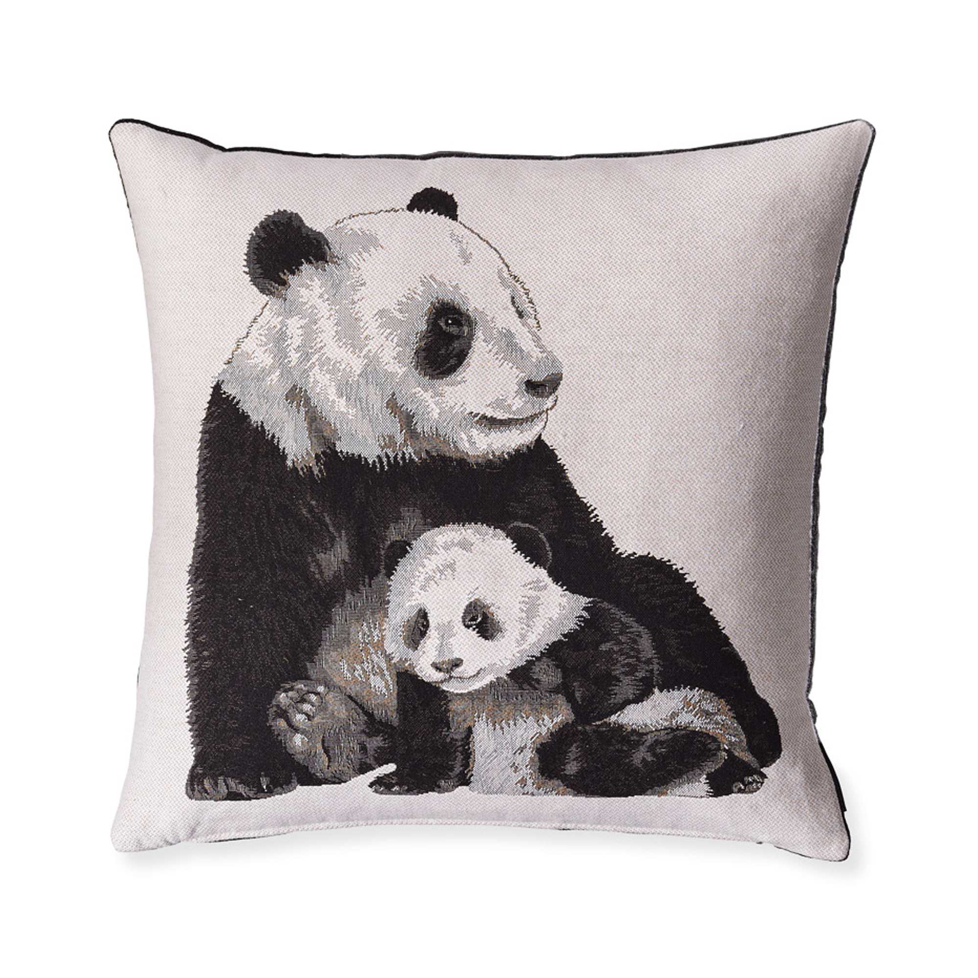 Panda & Baby Tapestry Pillow