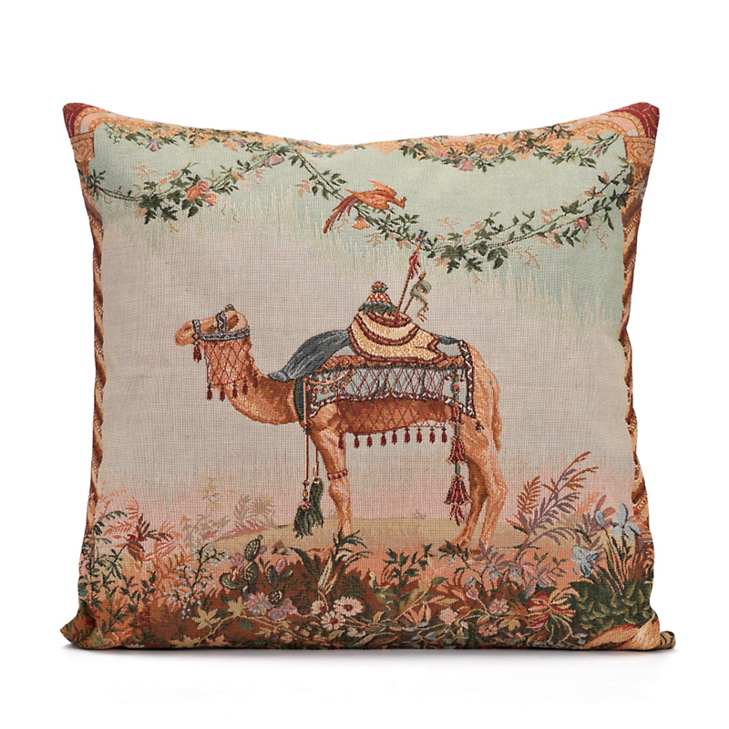 French Tapestry Camel Pillow