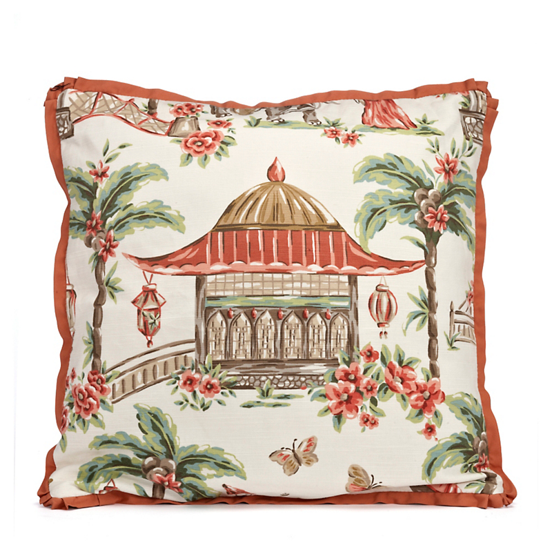 Palace Garden Pagoda Pillow