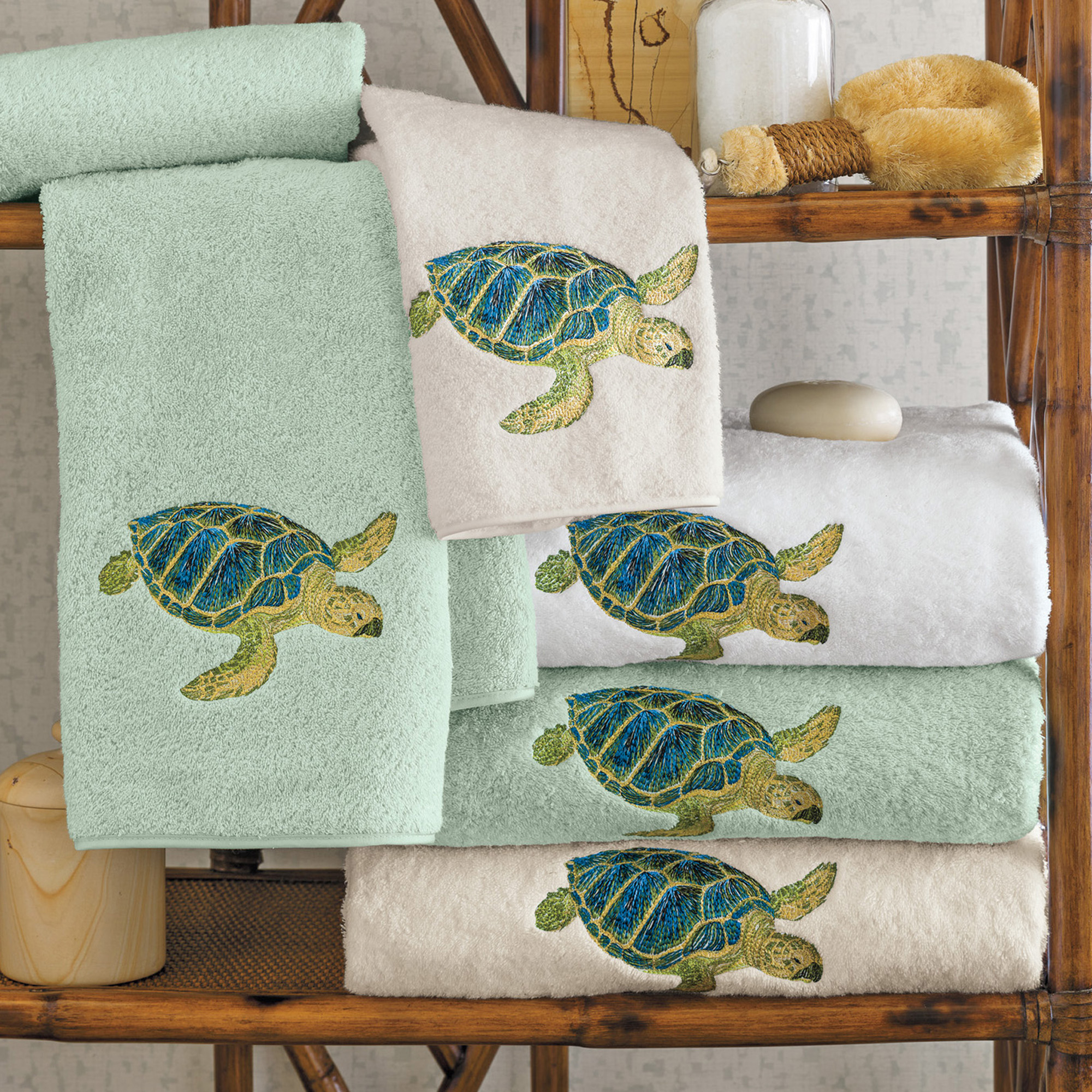 Turtle Shower Curtains Bath Accessory Sets Island Sea Turtle Towels Gump S