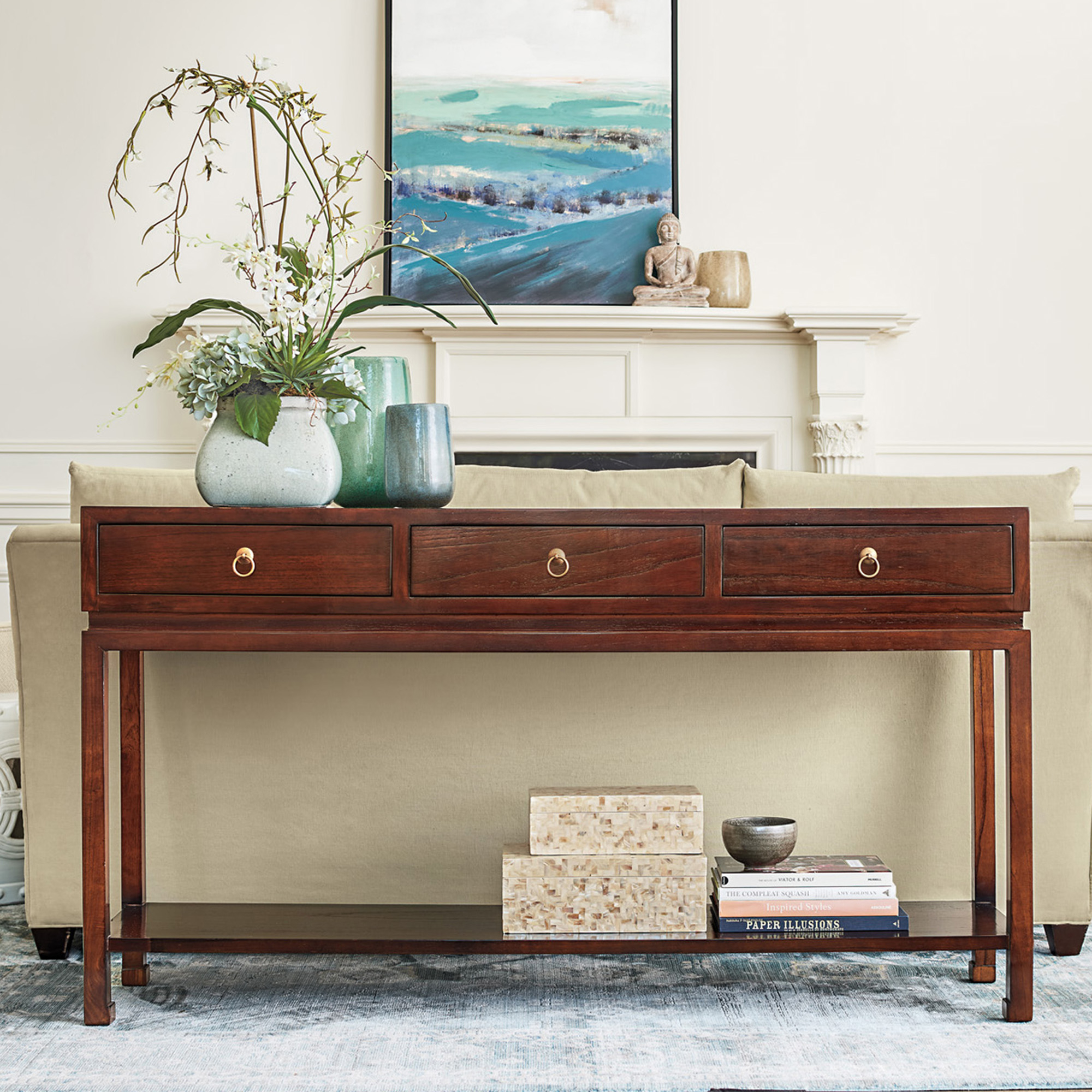 Brown Livingston Console Table