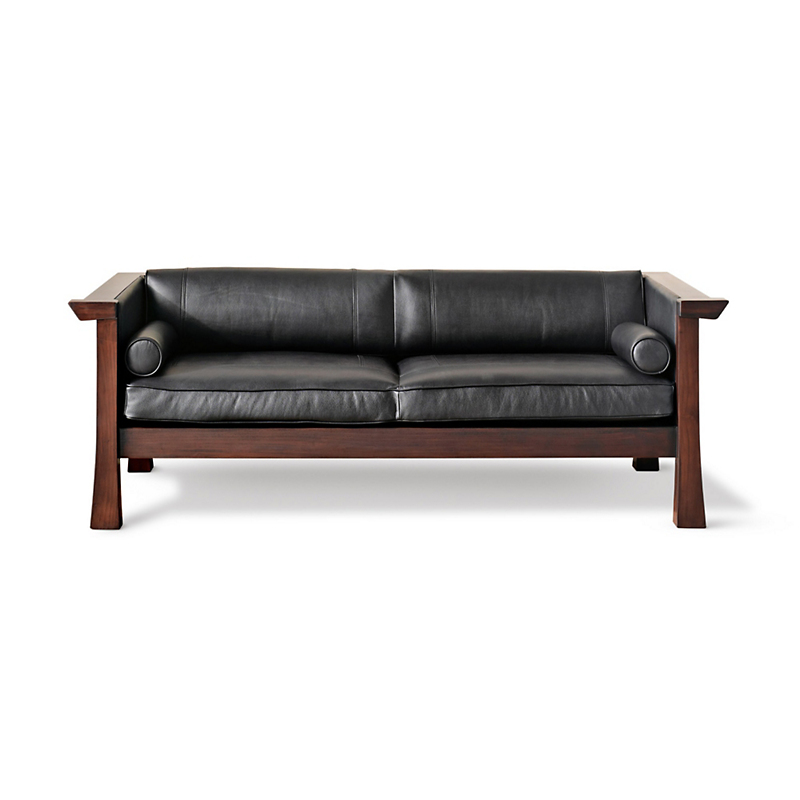 Maria Yee Cambria Sofa, Black Leather