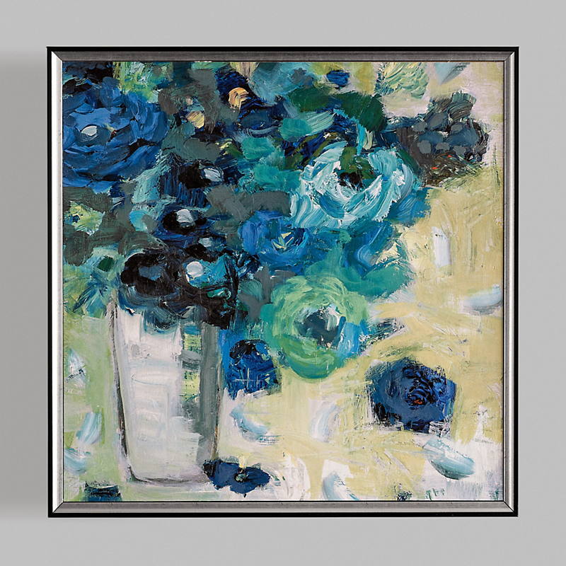 Blue Bouquet Art