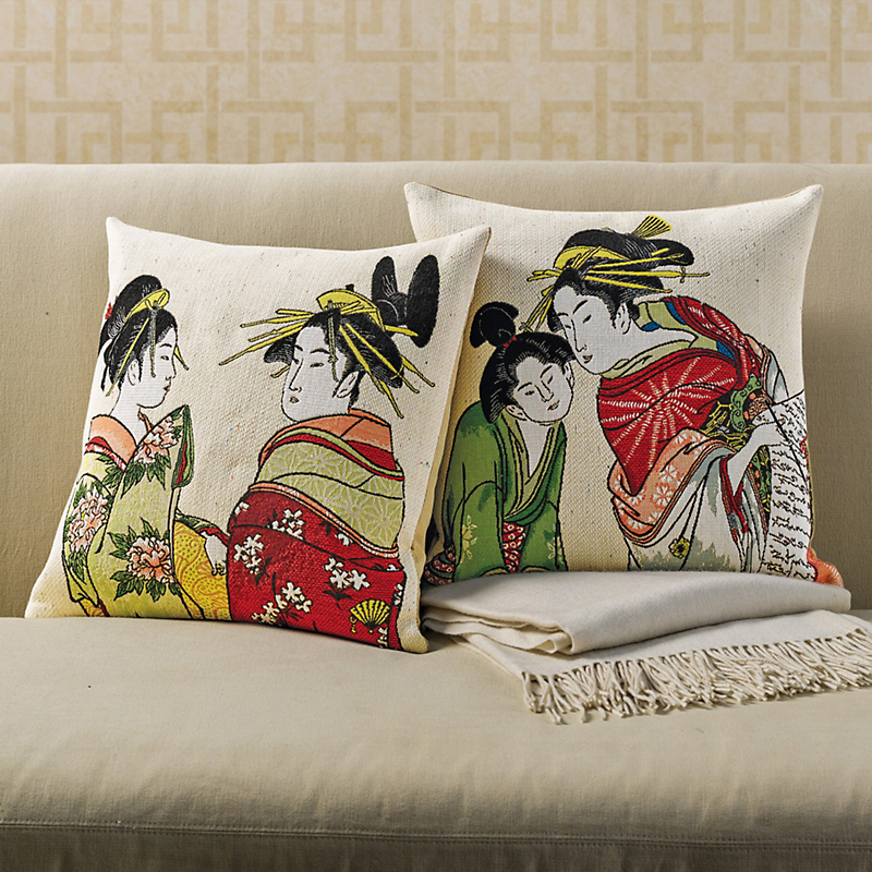 Geisha Tapestry Pillows