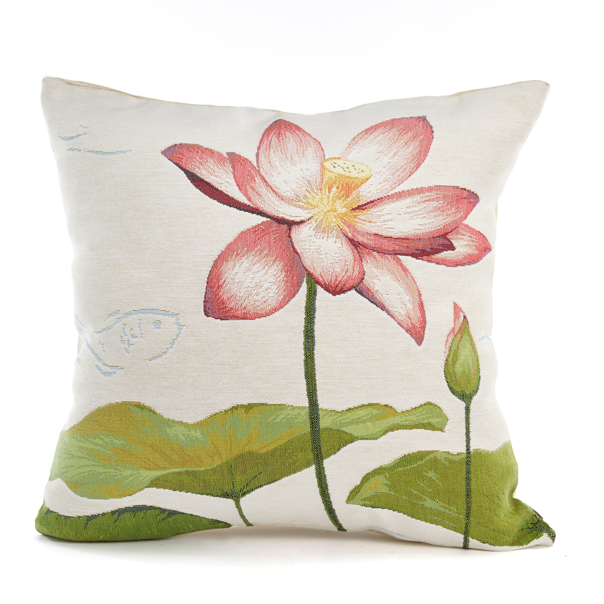 Water Lily Tapestry Pillow