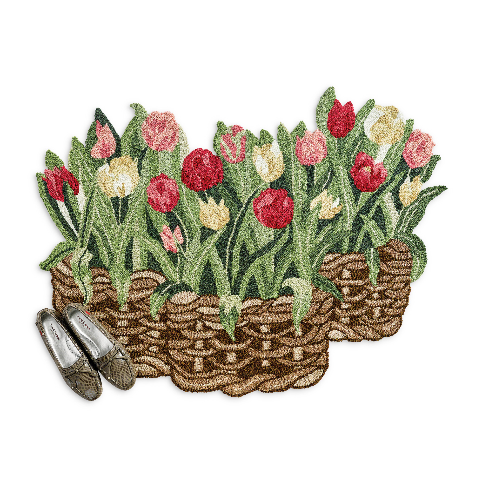 Tulips In Basket Rug