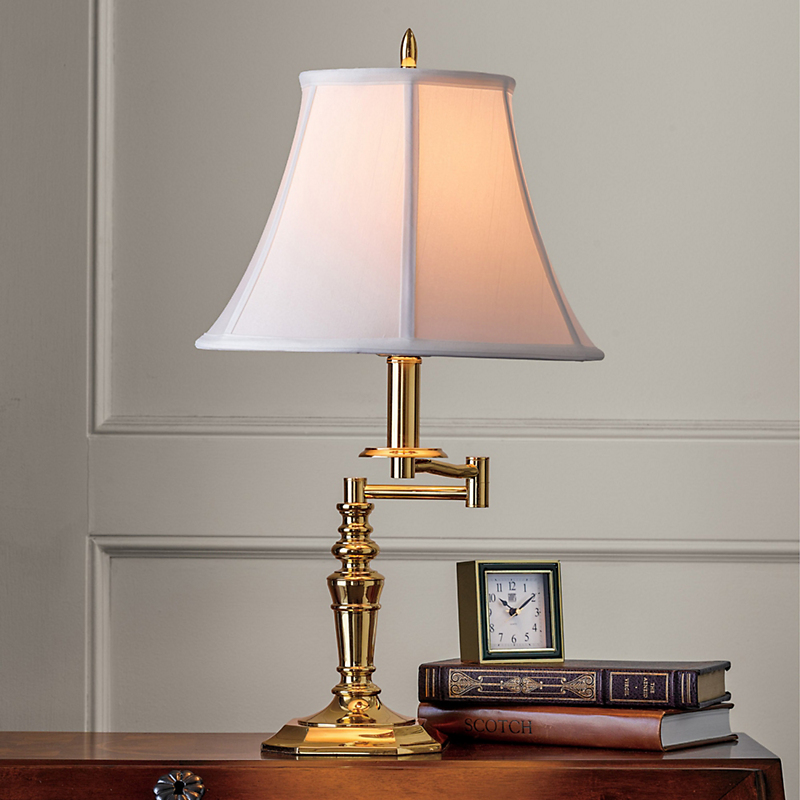Bailey Swing-Arm Brass Table Lamp