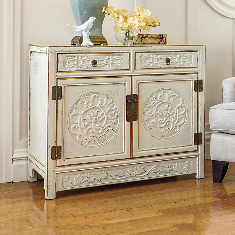Shanghai Carved Cabinet, Ivory