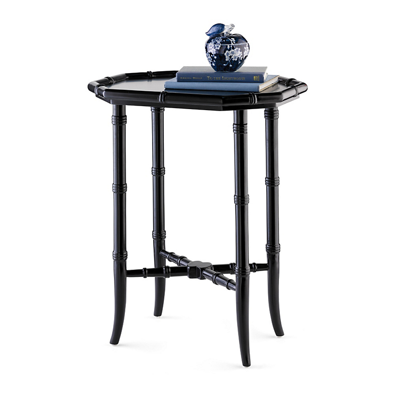 Black Lacquered Tea Table