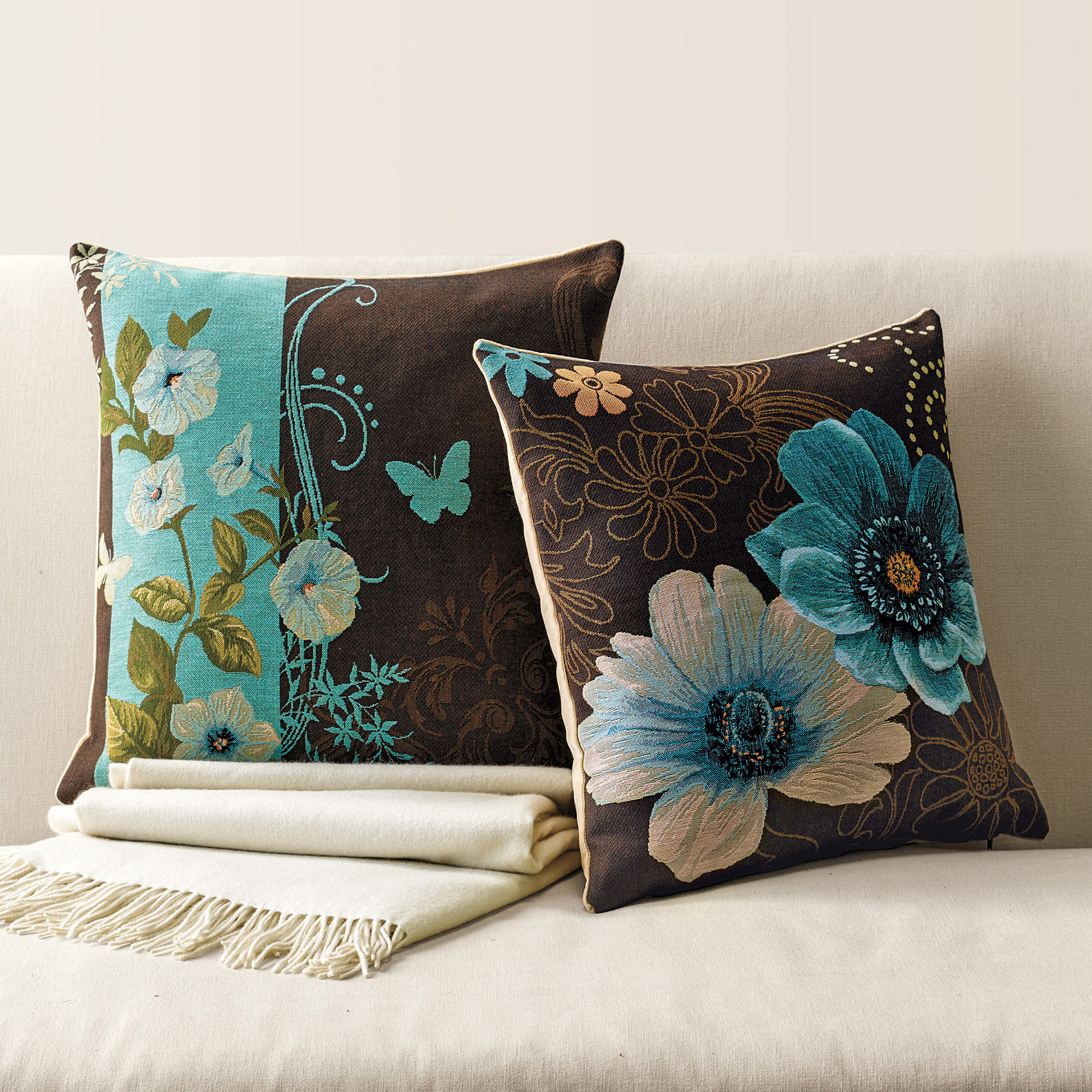 Throw Pillows Home : Meadowland Tapestry Pillows Gump s