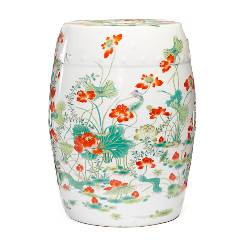 Lotus Dynasty Garden Stool