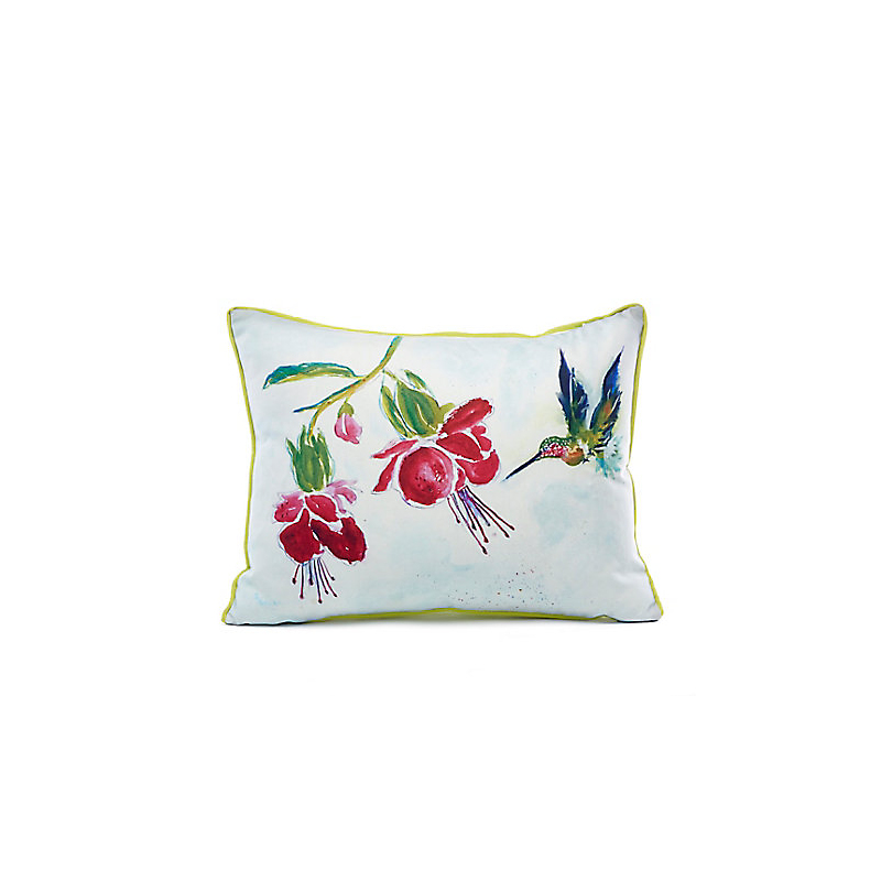 Indoor/Outdoor Hummingbird Garden Pillow