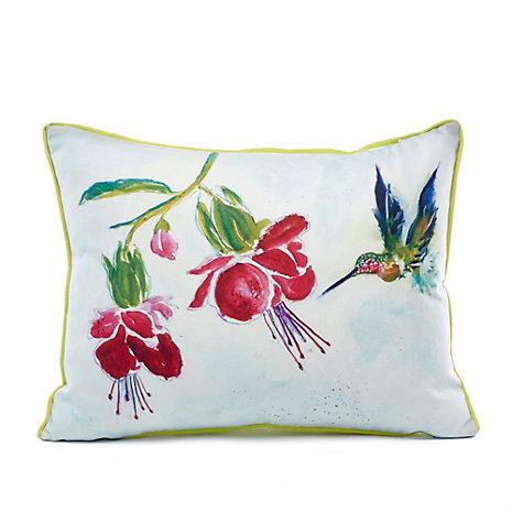Throw Pillows Home : Indoor/Outdoor Hummingbird Garden Pillow Gump s